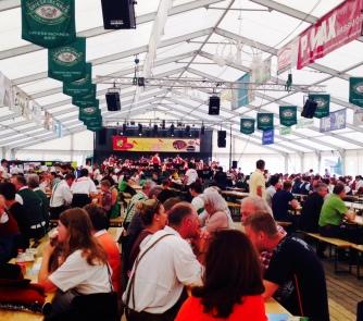 Fruehschoppen: Beertent Breakfast after Sunday Mass