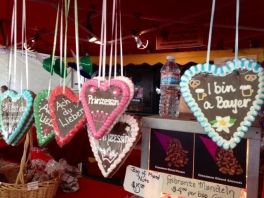 Gingerbread Hearts Imported from Germany at an Octoberfest in California