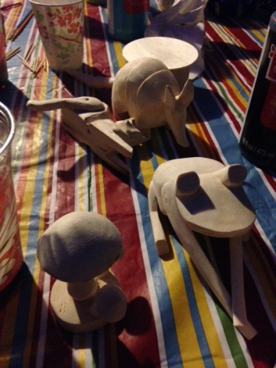 Unpainted Carved Figurines Ready to Be Turned into Painted Alebrijes - Carved by Saul Aragon