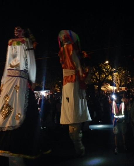 Parade at Dia de los Muertos in Sacramento