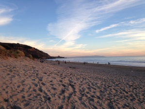 Sun Starting to Set at Stinson Beach