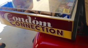 Close-up of the On-Campus Condom Cart