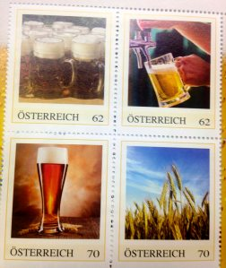 Austrian Stamps Celebrating Austria's Beer Culture