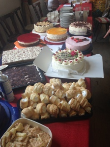 Cake Buffet at an Austrian Potluck after Several Other Courses
