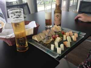 A cheese snack and beers for a little pick-me-up midmorning.