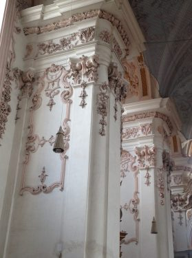 The interior of the church Maria Himmelfahrt reminds me of icing on a fancy cake.