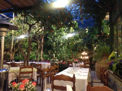 Restaurant in Sorrento, Italy