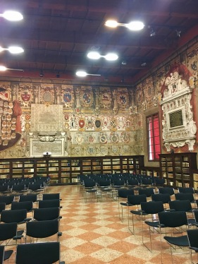 Salla dello Stabat Mater - a former lecture hall in the first permanent seat of Europe's oldest university.