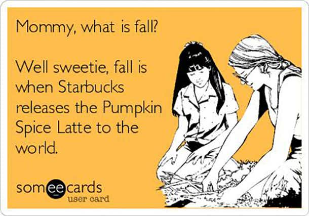 Starbucks Pumpkin Meme
